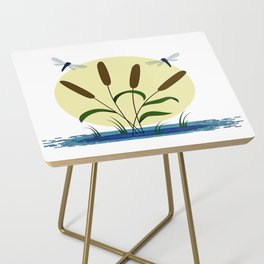 Cattails and Dragonflies Side Table