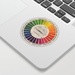 Vintage Color Wheel - Art Teaching Tool - Rainbow Mood Chart Sticker