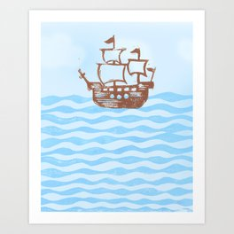 a pirate's life Art Print