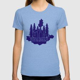 Walden - Henry David Thoreau (Blue version) T-shirt