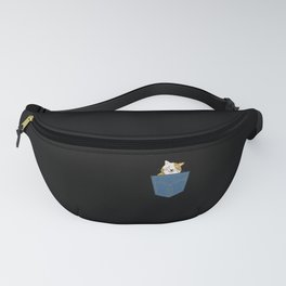 Cat in a jeans pocket Fanny Pack