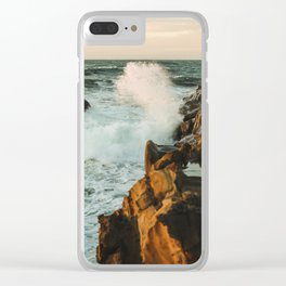 waves come crashing Clear iPhone Case