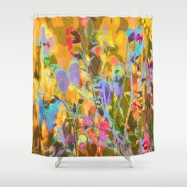 Butterflies flying in meadow - lovely colors and details - summer mood Shower Curtain