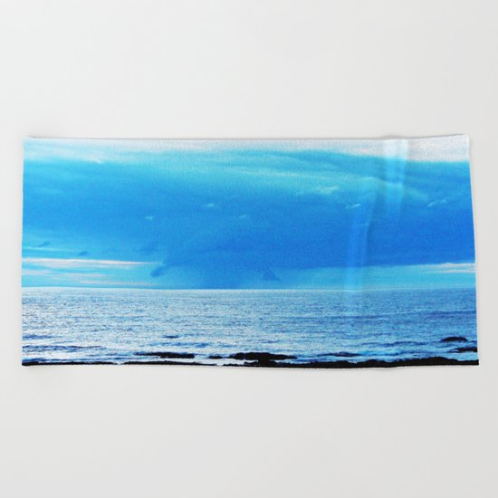 Storm Funnels Above the Sea Beach Towel