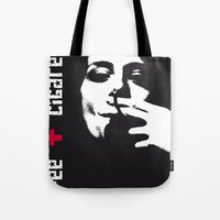 cigarettes Tote Bags featuring coffee + cigarettes by Jay Hops :: www.jayhops.de
