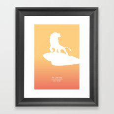Pride Rock Framed Art Print