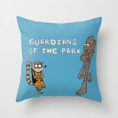 Guardians of the Park Throw Pillow