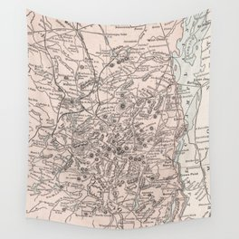 Vintage Map of The Adirondack Mountains (1901) Wall Tapestry