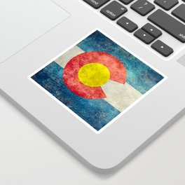 Colorado State flag, Vintage retro style Sticker