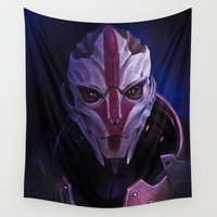 mass effect Wall Tapestries featuring Mass Effect: Nyreen Kandros by Ruthie Hammerschlag