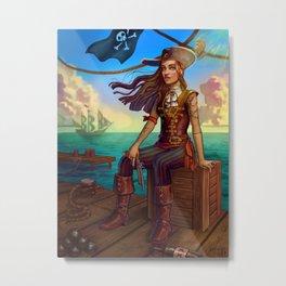 Pirate Commission Metal Print