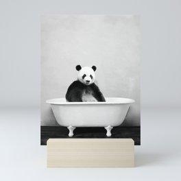 Panda Bathtub Mini Art Print