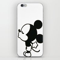 mickey iPhone & iPod Skins featuring mickey by ABTD