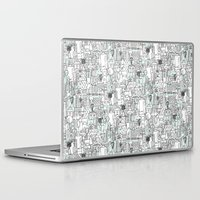 kitchen Laptop & iPad Skins featuring kitchen town by Sharon Turner