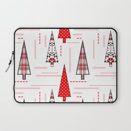 Seamless christmas applique patchwork pattern Laptop Sleeve