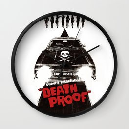 Death Proof Movie Poster Written And Directed By Quentin Tarantino Spanish Version Artwork, Posters, Wall Clock