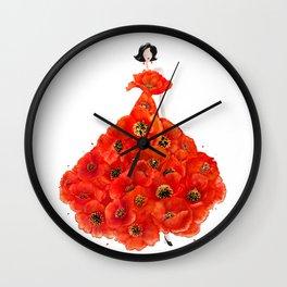 Fashion poppies Wall Clock