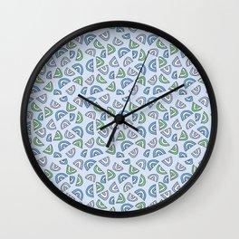 Rainbow Love - Blue and Green Wall Clock