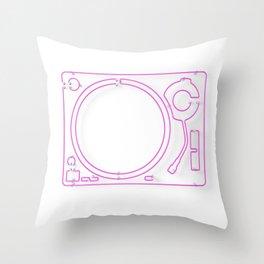 Neon Turntable 2 - 3D Art Throw Pillow