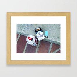 Beer and Cigarettes Framed Art Print