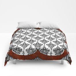 Skeleton Damask - white Comforters