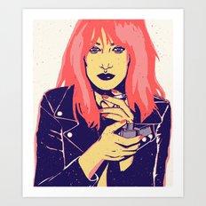 Rock Gina Art Print