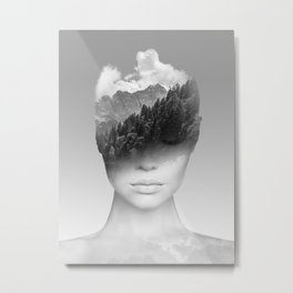 Becoming one with Nature Metal Print