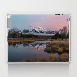Snowy Pink Sunrise in the Tetons Laptop & iPad Skin