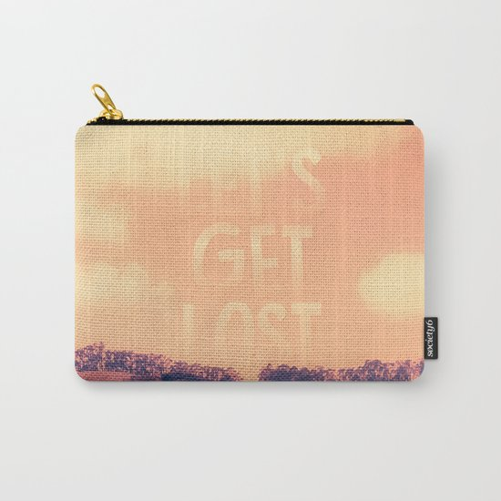 Sweet Spring, Coral Pink Sky, Blue Violet Trees Carry-All Pouch