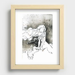 WAITING Recessed Framed Print