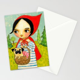Little Red Riding Hood and her Pug Stationery Cards