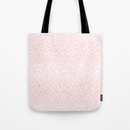 Hearts in light pink Tote Bag