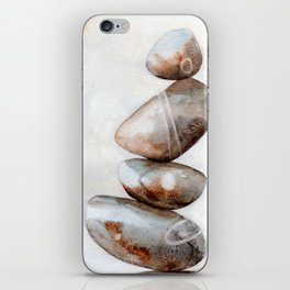 Finding the balance - Stones cairn iPhone Skin