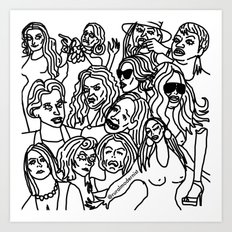Real Housewives pt.1 Art Print