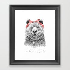 Break the rules Framed Art Print