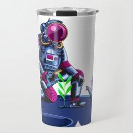 green plant astronauts on mars Travel Mug