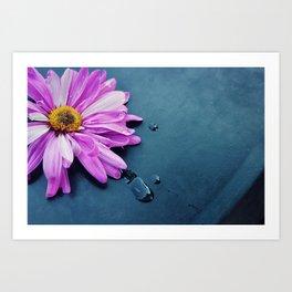 pink Flower From New York  Art Print