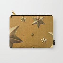 Season's Greetings - Stars (Gold) Carry-All Pouch