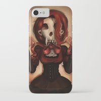 theatre iPhone & iPod Cases featuring Skull Theatre by Anna Lisa Wardle