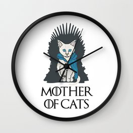 Mother Of Cats 2 Wall Clock