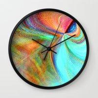 flight Wall Clocks featuring Flight by Sandy Moulder