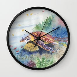 Sea Turtle and Friends Wall Clock