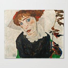 Egon Schiele - Portrait Of Wally Neuzil Canvas Print