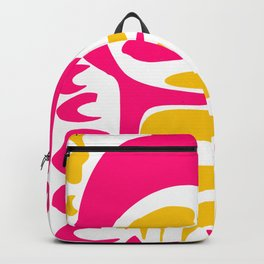 Summer Pop abstract pattern pink and yellow Backpack