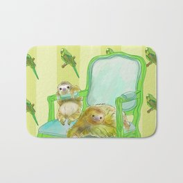 animals in chairs #6 The Sloth Bath Mat