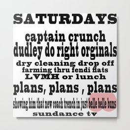 Definition of Saturday #2 Metal Print