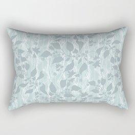 Pale blue Beautiful grass. Rectangular Pillow