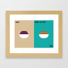 Açaí x Dulce de Leche Framed Art Print