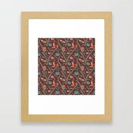 Autumn Forest Pattern Framed Art Print