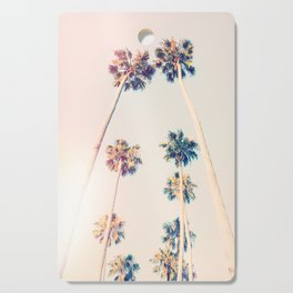 Vintage Pastel Palm trees Cutting Board